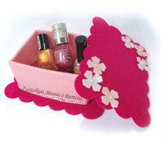 kit feltro scatola bauletto cofanetto scatolina bomboniera fai da te idea regalo pannolenci ragazza