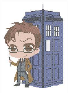 BOGO FREE Doctor Who TARDIS Cross stitch pattern movie Doctor