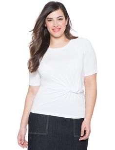 4c20a50372164 Knotted Waist Tee from eloquii.com Plus Size Womens Clothing