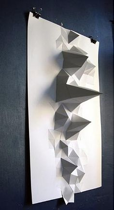 3d #paper  pin to white board and spot light for abstract draw from observation