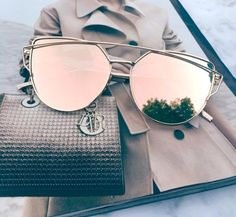 Rose gold mirrored sunglassesRose gold aviator sunglassesRose gold cat eye sunglassesWire sunglassesUV protectionTop quality
