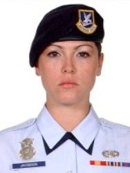 Air Force Airman 1st Class Elizabeth N. Jacobson Died September 28, 2005 Serving During Operation Iraqi Freedom 21, of Riviera Beach, Fla.; assigned to the 17th Security Forces Squadron, Goodfellow Air Force Base, Texas; died Sept. 28, 2005, near Camp Bucca, Iraq, when an improvised explosive device detonated near her convoy vehicle.