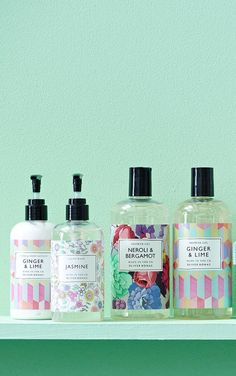 Freshen up with our Oliver Bonas bath & body range. Soap Packaging, Cosmetic Packaging, Beauty Packaging, Label Design, Packaging Design, Branding Design, Hotel Toiletries, Detergent Bottles, Stationary Gifts