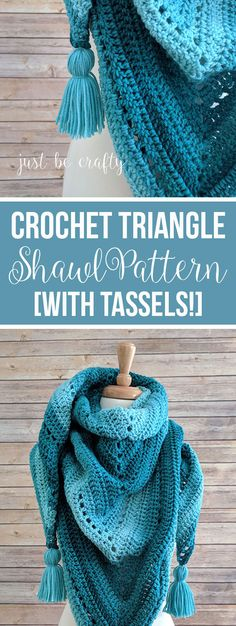 Crochet Triangle Shawl Pattern | Free Crochet Pattern by Just Be Crafty