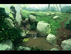 anime background cliff - Google Search