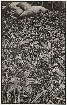 Barry Moser. The Lovers, 1999. Wood engraving on Japanese paper.