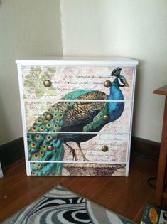 20 Awesome napkin decoupage on furniture images