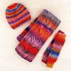 Pink Marbled Scarf, Arm Warmer or Beanie  Looks like a good knitting project.