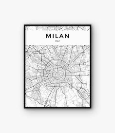 "Milan Map Print Milan Print Milan Poster Milan Wall Art  ""affiliate"" (this does not cost you anything extra but can help me a little)"