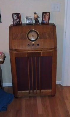 1938 Philco radio  both sets of grandparents had one of these - We had one like this and I would sit on the floor by the speaker and hear Inner Sanctum & the Shadow Knows.