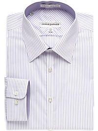 Jhane Barnes Lavender Stripe Slim Fit Dress Shirt
