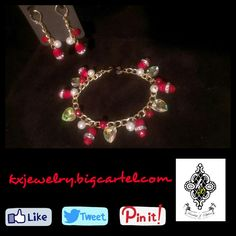 #handmade #jewelry #handcrafted #jewelrydesign #red #gold #charm