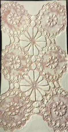 Lace Porcelain Plate by NicoleShepherdArt on Etsy