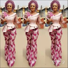 Amazing Top and Trouser Aso Ebi Styles 2018 for Stylish Wedding Guests.Amazing Top and Trouser Aso Ebi Styles 2018 for Stylish Wedding Guests African Lace Dresses, African Wedding Dress, Latest African Fashion Dresses, African Print Fashion, Africa Fashion, African Prints, African Wear, African Attire, African Women