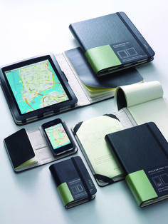 Real Moleskine covers and notepads for iPad and iPhone. WANT.