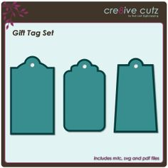 Gift Tag SVG & MTC cutting files