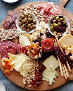 Party hosting: cheese plate