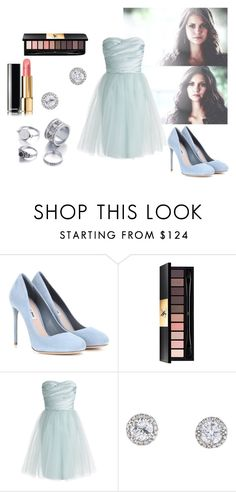 """""""And Now I Can't Even Recognize Myself Anymore"""" by janny-janny ❤ liked on Polyvore featuring Miu Miu, Yves Saint Laurent and ML Monique Lhuillier"""