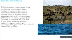 What are the interesting places in Kenyahttps://goo.gl/r1938O Kisumu Impala Sanctuary is a located 3 Km from Kisumu City. The Sanctuary lies on the shores of Lake Victoria. There are quite a lot of things to enliven and thrill nature-lovers here; besides if you love wildlife you will appreciate the both the free ranging and captive animals in the sanctuary. Apart from that Kisumu Impala Sanctuary is a well-preserved natural beauty a fascinating place to be! Mahali Mzuri Mahali Mzuri is an…
