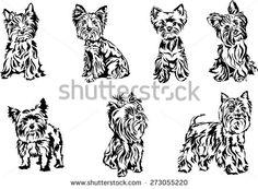 yorkshire terrier silhouette - Hledat Googlem
