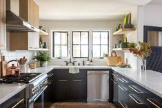 light-filled neutral kitchen