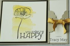 Stampin' Up! UK - Scalloped Tag Topper Punch card set based on project by Michelle Last. Happy Watercolor,