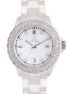 Bling Bling! Pearlized White with Crystals by ToyWatch $295