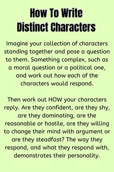 How To Write Distinct Characters