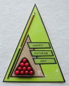 I am very impressed with this shaped Father's Day card!