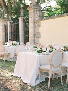 Featuring a spectacular Old World inspired wedding design at a Mediterranean Renaissance villa in Miami, this gallery will sweep you away into another world entirely. This modern day fairytale comes complete with a Monique Lhuillier ballgown silhouette, scroll style menus and toile favor wraps with hand-scribbled calligraphy.