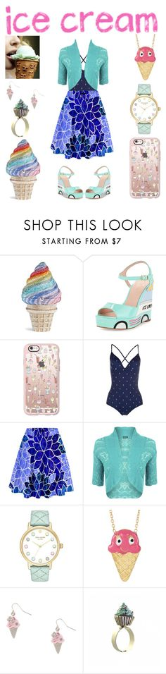"""""""Ice Cream Dreams"""" by creation-gallery ❤ liked on Polyvore featuring Judith Leiber, Kate Spade, Casetify, Paul Smith, WearAll, Gab+Cos Designs, Irregular Choice and icecreamtreats"""