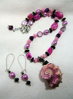 Uniquely Awesome Fuchsia Pink Crazy Lace by SinginHoundBeadz, $32.00