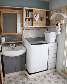 Bathroom Furniture and Storage Unique 30 Awesome Diy Bathroom Storage Ideas for solutions Large Bathroom Furniture, Diy Bathroom, Modern Bathroom, Wooden Furniture, Antique Furniture, Small Bathroom Organization, Bathroom Storage, Large Bathrooms, Laundry Room Design