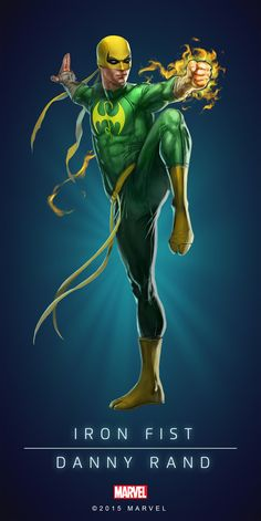 Danny Rand - Iron Fist rounds out the Defenders in Marvel Dc Comics, Marvel Avengers, Iron Fist Marvel, Marvel Comic Universe, Comics Universe, Marvel Heroes, Marvel Comic Character, Marvel Characters, Mundo Marvel