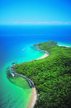 Helicopter view of Noosa, Australia