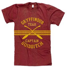 Harry Potter Quidditch Team Captain's t-shirt available from Amazon for men and women by clicking on the picture. #harrypotter #quidditch