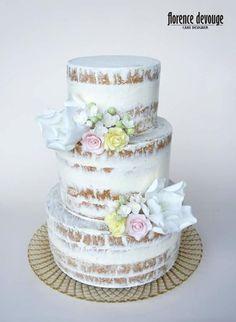 Summer wedding cake by Florence Devouge - http://cakesdecor.com/cakes/250755-summer-wedding-cake