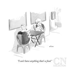"""I can't have anything that's a food."" - New Yorker Cartoon Poster Print by Emily Flake at the Condé Nast Collection"