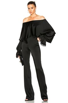 Image 1 of JONATHAN SIMKHAI Sateen Jumpsuit in Black