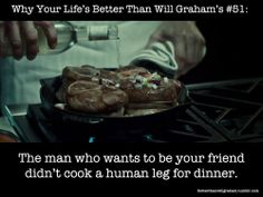 The trials and tribulations of Will Graham, a friend to cannibal serial killers. At least your. Hannibal Tv Series, Nbc Hannibal, Hannibal Lecter, Will Graham, Hugh Dancy, Mads Mikkelsen, Fandoms, Wellness, Cooking