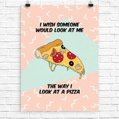 'I wish' pizza printable wall art