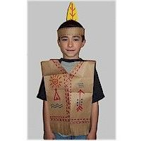 PAPER BAG NATIVE AMERICAN VEST is a good project for the Thanksgiving pageant. Go to Native American Crafts at www.freekidscrafts for more ideas.