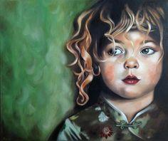 "Oil painting by Rebecca Tecla ""Innocence"""