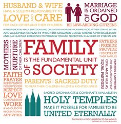"""The Family: A Proclamation to the World--Use this printout for easier memorization. Print and cut into """"puzzle"""" sections as part of FHE on the Proclamation"""
