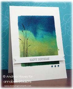 acrylic block, ink, water, watercolor paper. Stamp by Annabelle - All Things Grow