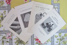 4 Vintage Handicraft Leaflets