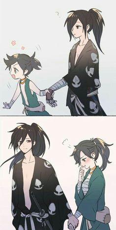 Dororo Shitttt this too cute Anime Art anime art cute Dororo Shitttt Anime Meme, Manga Anime, Fanarts Anime, Anime Boys, Anime Art, Anime Child, Cartoon Cartoon, Anime Love Couple, Cute Anime Couples