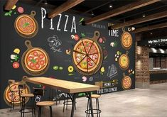 Custom Wallpaper For Walls Pizza Shop Wall Mural Food Drink Wallpaper Restaurant Coffee Dinning Kitchen Shop Wall Covering Room Decor Desktop Wallpaper Wide Desktop Wallpaper Widescreen From Greenho, &Price; Cafe Restaurant, Western Restaurant, Restaurant Photos, Pizzeria Design, Restaurant Design, 3d Wallpaper For Walls, Cheap Wallpaper, Custom Wallpaper, Photo Wallpaper
