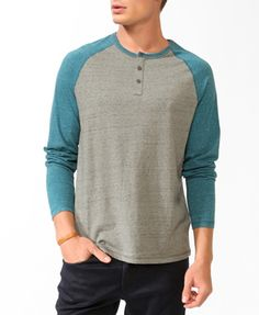 Buttoned Raglan Top | FOREVER 21 - 2017307220