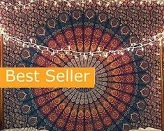 Hippie Bohemian Indian Mandala Tapestry Wall Hanging Bedspread   Etsy Bohemian Bedspread, Bohemian Tapestry, Indian Tapestry, Mandala Tapestry, Hippie Bohemian, Sun And Moon Tapestry, Unique Gifts For Women, Quilts For Sale, Woven Wrap